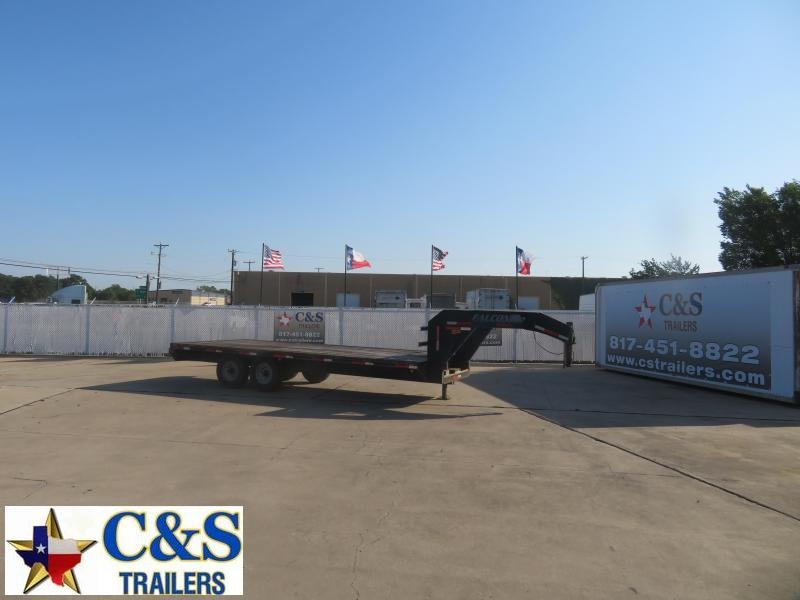 2007 Falcon 102 x 20 Flatbed Trailer