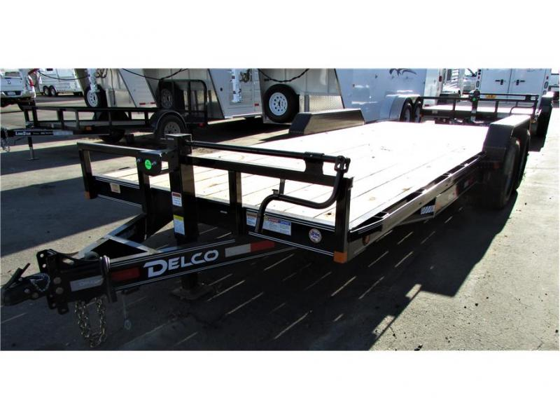 "2021 Delco Trailers Equip Trailer 83""x20' BP 14,000 lbs"