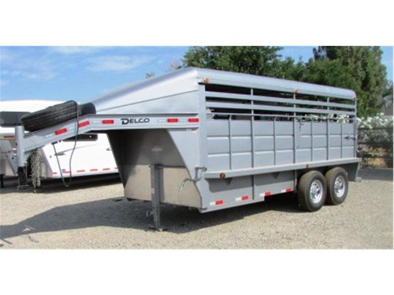 """2018 Delco Trailers 6'8""""x16' Metal Top GN  2-7K"""