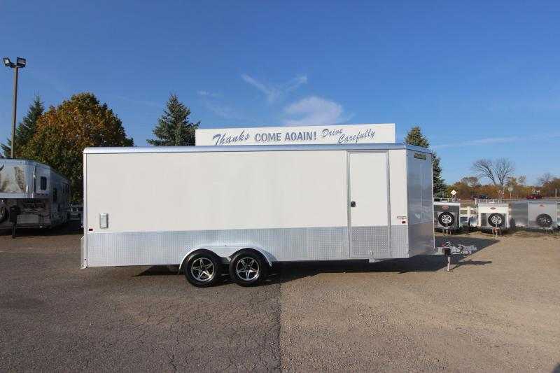 2020 Aluma 7x20 + 3' V nose Enclosed Cargo Trailer