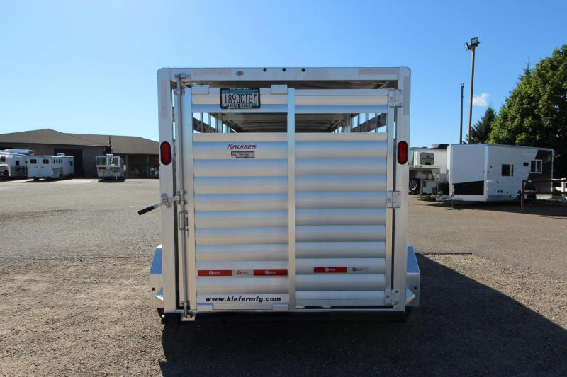 2017 Keifer Built 16' GN Livestock Trailer