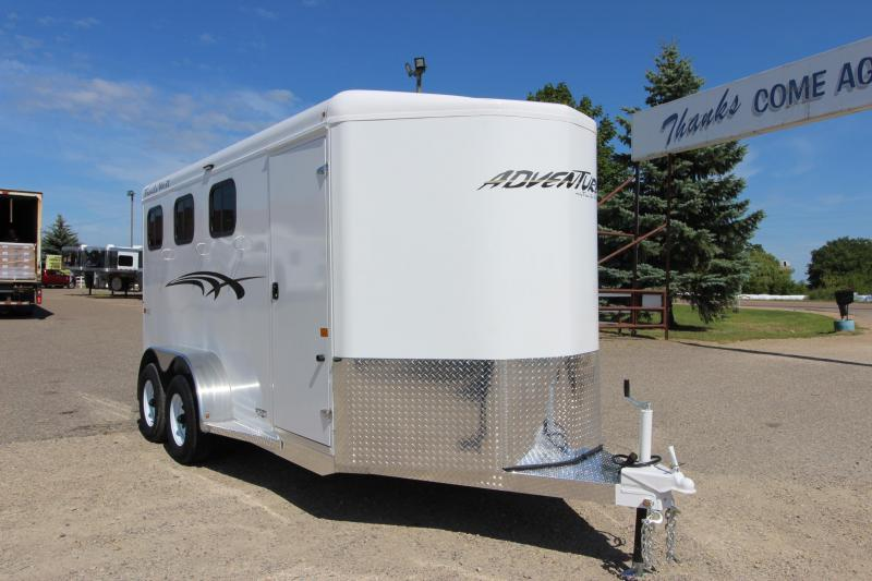 2021 Trails West Adventure 3HR BP Horse Trailer