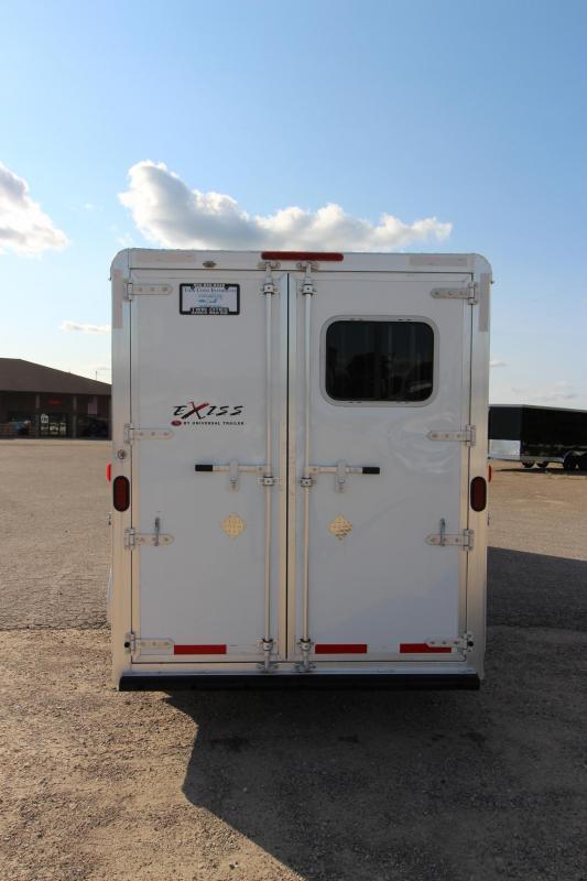 2015 Exiss Trailers 3HR Slant Load GN Horse Trailer