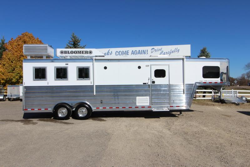 "2020 Bloomer 3HR 10' 8"" LQ Horse Trailer"