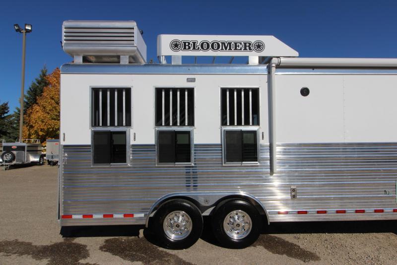 "2020 Bloomer 3HR 10' 8"" LQ Horse Trailer"