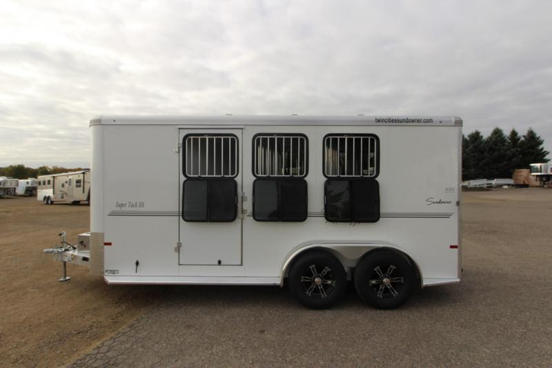 2021 Sundowner Trailers 3HR BP Super Tack Horse Trailer