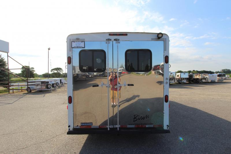 2003 Bison Trailers 3HR GN with 12' LQ Horse Trailer