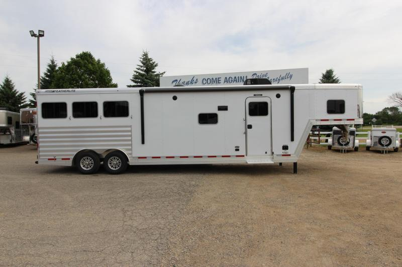 2020 Featherlite 3HR 13' LQ Slide Horse Trailer
