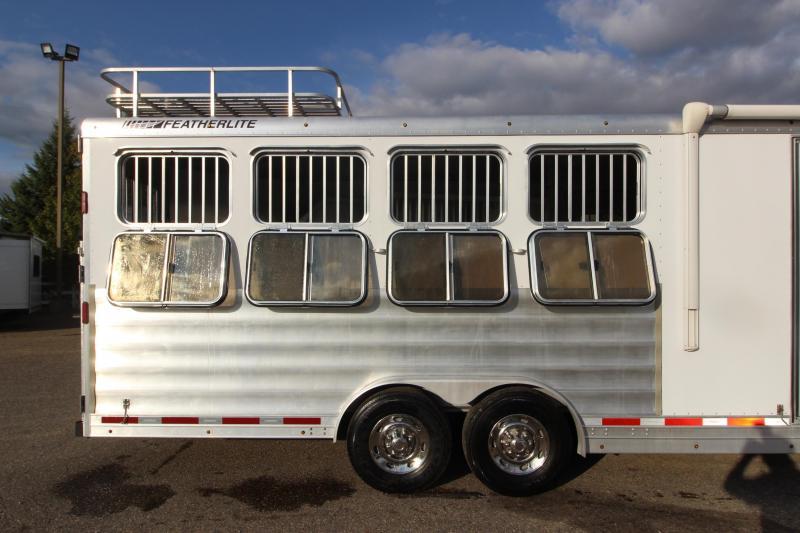 2013 Featherlite 4HR 12.5' LQ MT Horse Trailer