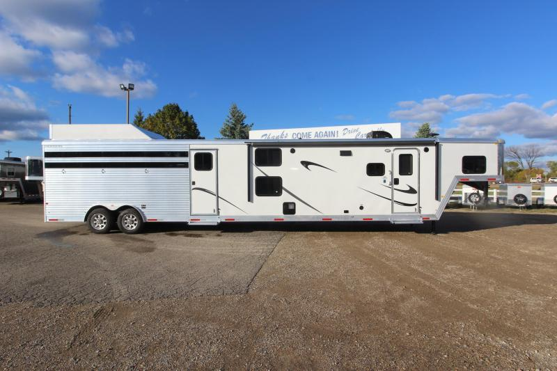 2018 Merhow Trailers Stock/Combo 17' LQ with Slide Out and MT Horse Trailer