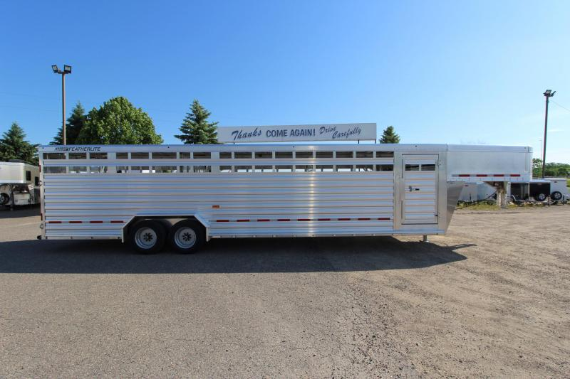"2020 Featherlite 7'6"" x 30 Livestock Trailer"