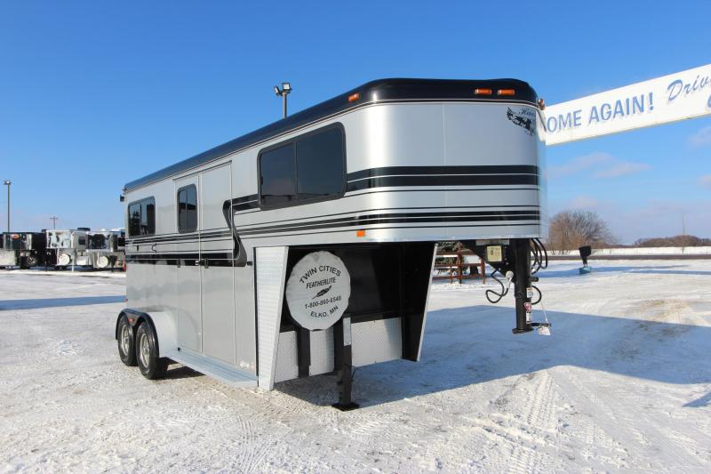 2014 Hawk Trailers 2HR Straight load GN Horse Trailer