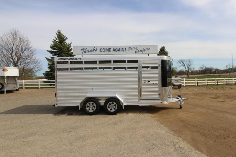 2022 Featherlite 8107 16' BP Livestock Trailer