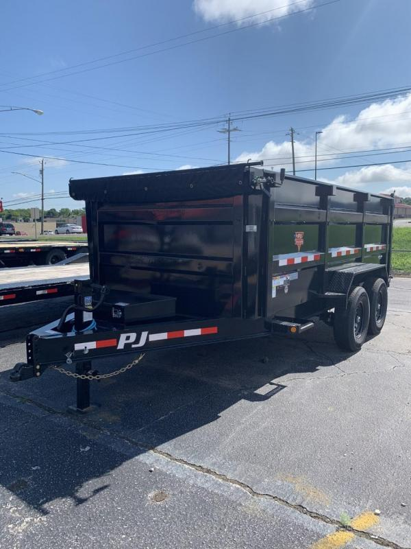 "2021 PJ Trailers 14'x83"" Low Pro High Side Dump Trailer"