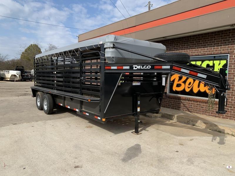 2021 Delco Trailers B820R72BK Livestock Trailer