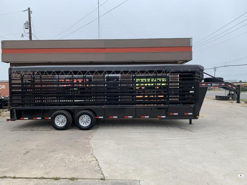 2021 Delco Trailers B824R72BK Livestock Trailer