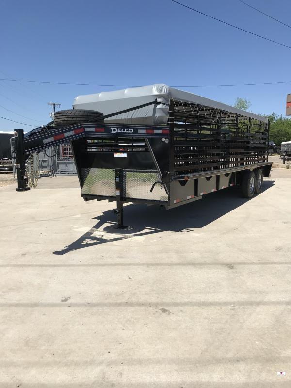 2021 Delco Trailers GB68X2427K Livestock Trailer