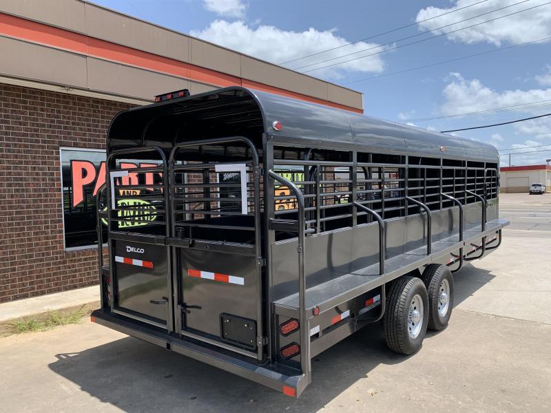 2021 Delco Trailers P824Q72BK Livestock Trailer