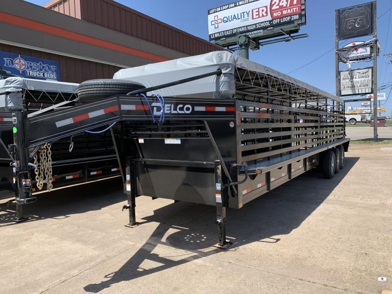 2021 Delco Trailers B832R737K01637 Livestock Trailer