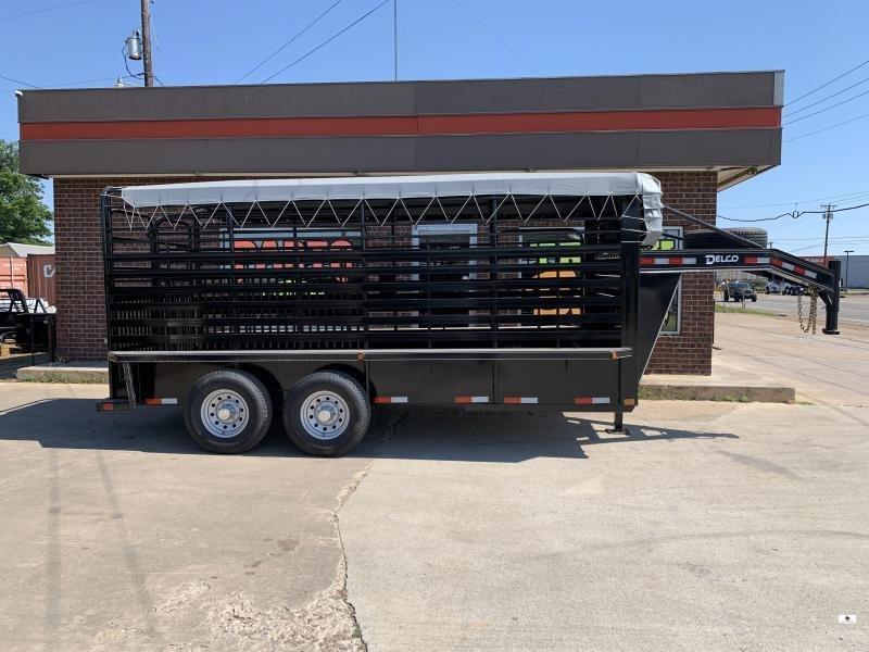 2021 Delco Trailers B816R72BK02696 Livestock Trailer