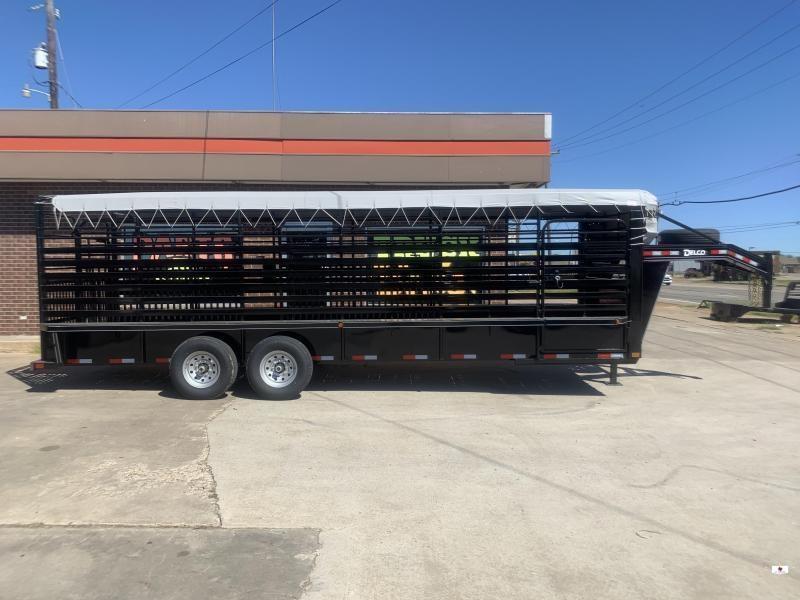 2022 Delco Trailers B824R72BK Livestock Trailer