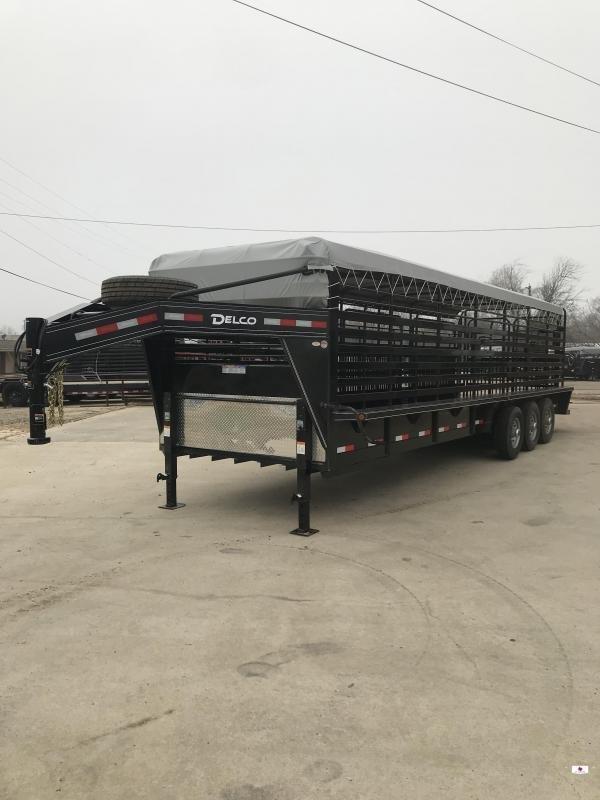 2020 Delco Trailers GB68X2837K Livestock Trailer