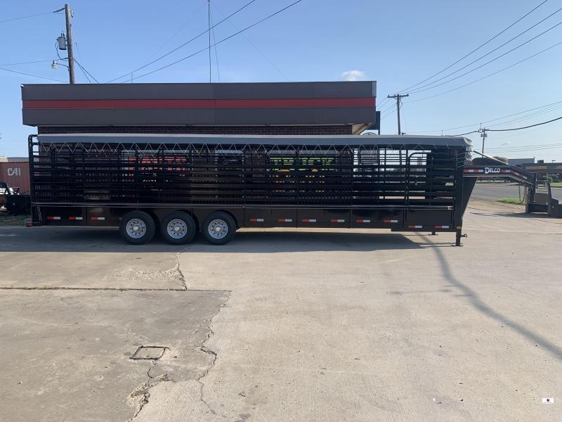2021 Delco Trailers B832R73BK Livestock Trailer
