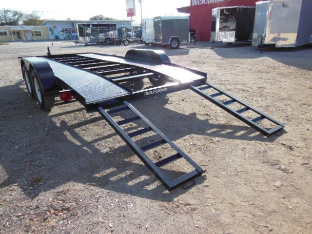 Triple Crown Open 7 X 16 Steel Car Hauler