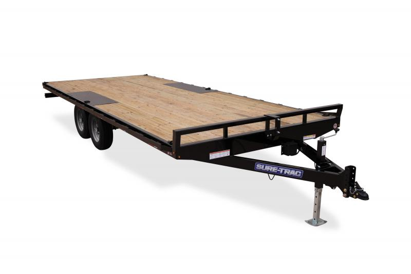 Sure-Trac 8.5X18 FLATBED DECKOVER LP 10K Equipment Trailer