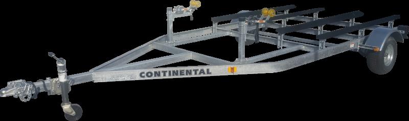 Continental Trailers WC7E25 Galvanized double PWC Watercraft Trailer
