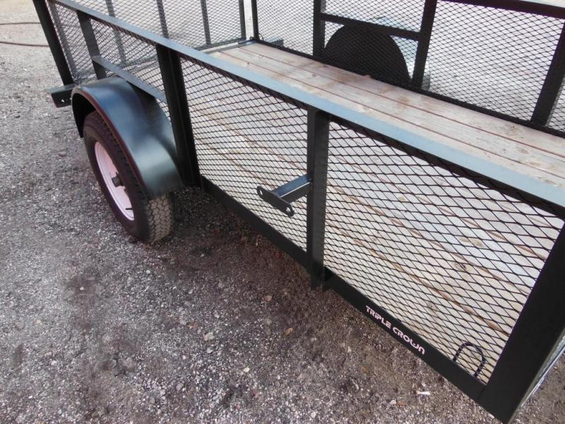 2020 Triple Crown Trailers 5 x 10 w/ 2' mesh Utility Trailer