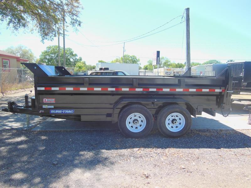 New Sure-Trac 7x14 TA DUAL RAM 14K Dump Trailer