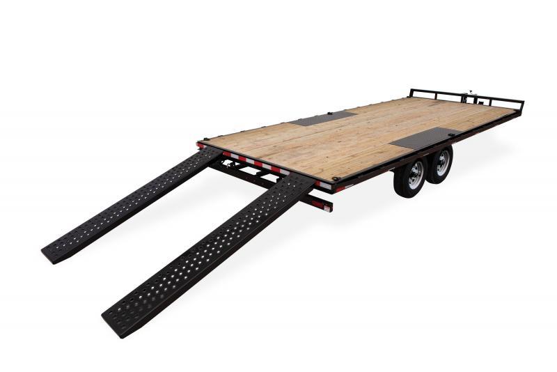 Sure-Trac 8.5x16 FLATBED DECKOVER LP 10K Equipment Trailer