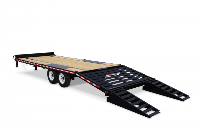 Sure-Trac 8.5X20+5 HD- LP-BEAVERTAIL DECKOVER 15K Equipment Trailer