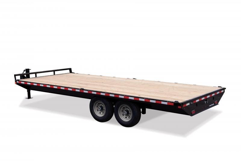 Sure-Trac 8.5X22 SD FLATBED DECKOVER 15K Equipment Trailer