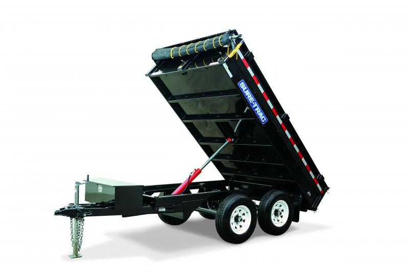 Sure-Trac 6x10 7K Deckover Standard Duty Dump Trailer