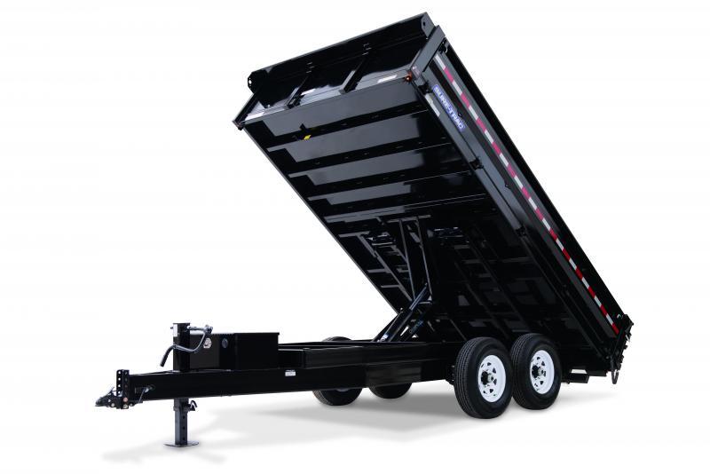 Sure-Trac 8X16 DECKOVER FOLD DOWN SIDES 14K Dump Trailer