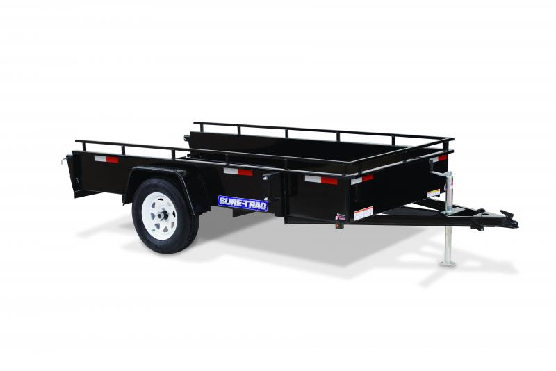 Sure-Trac 6 x 12 SA Steel High Side Utility Trailer