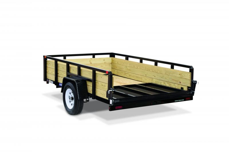 Sure-Trac 7 X 12 SA 3 BOARD HIGH SIDE Utility Trailer