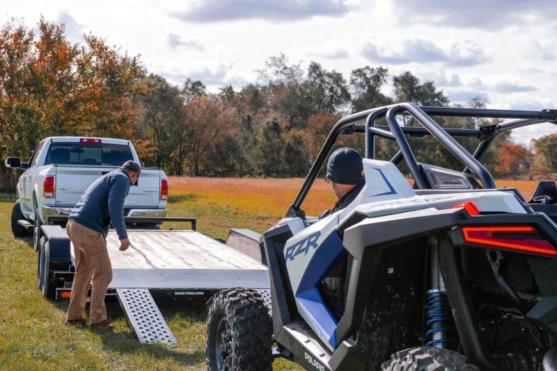 Sure-Trac 7 x 18 TA 10K Wood Deck Car / Racing Trailer