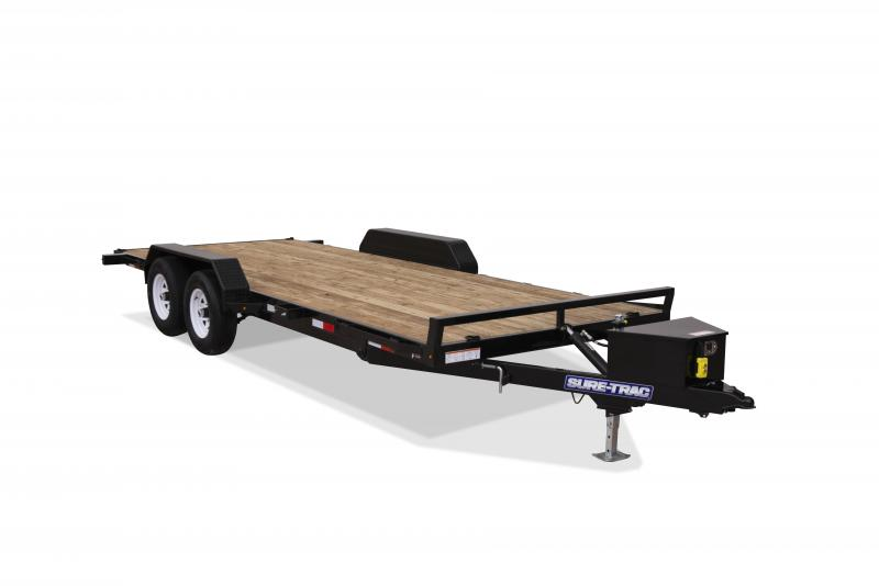 Sure-Trac 7 x 18 TILT DECK 10K Car / Racing Trailer