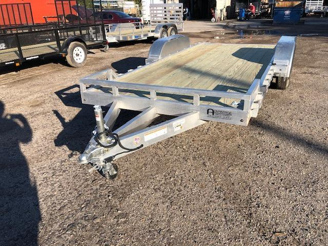 2021 Mission 7 x 18 Aluminum 10K w /wood deck Car / Racing Trailer