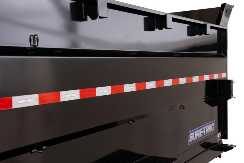 Sure-Trac 7x12 4' SIDES 14K Dump Trailer