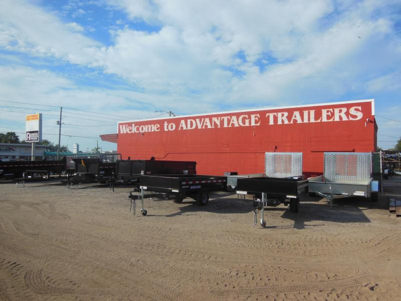 Sure-Trac 7 x 12 SA Solid Steel Sides Utility Trailer