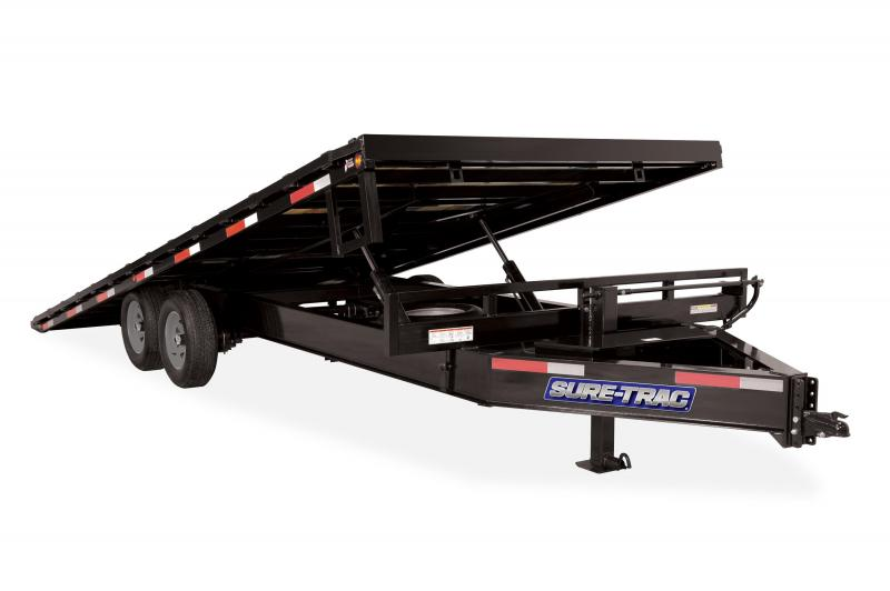 Sure-Trac 8.5X22 TILT DECK- HD-LP- DECKOVER 15K Equipment Trailer