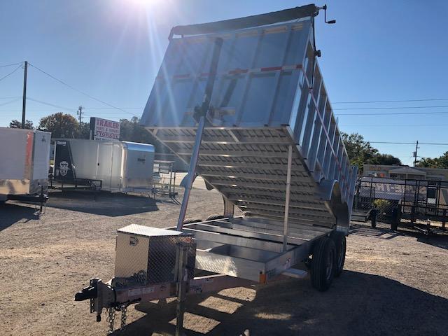 2021 Mission 7 x 14 Aluminum dump w/4' sides Dump Trailer