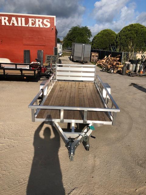 2021 Sure-Trac Aluminum 6 x 12 SA Utility Trailer