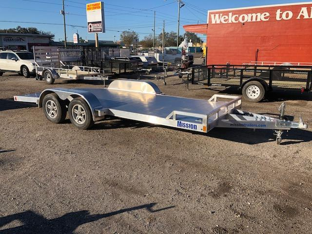 2021 Mission 7 x 18 Aluminum Car / Racing Trailer