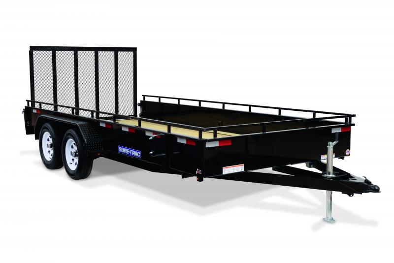 2020 Sure-Trac 7 x 16 TA Solid Steel Side Utility Trailer