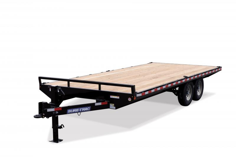 Sure-Trac 8.5X20 SD FLATBED DECKOVER 15K Equipment Trailer